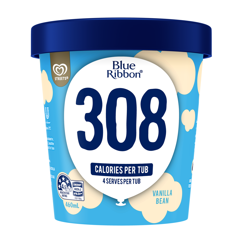 Blue Ribbon Creamy Chocolate 316 Calories Per Tub Streets